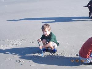 little digging