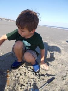 little sand