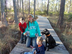 mom and boys and dog again