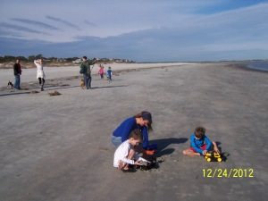mom and boys beach 2