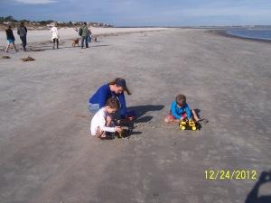 mom and boys beach 3