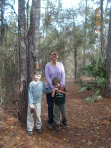 mom and boys