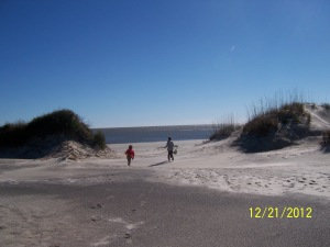 off to the beach 12.21.12