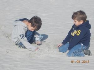 boys digging