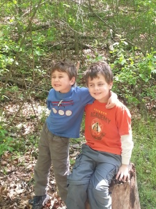 brothers at nature center