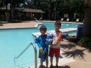 boys at pool 6.4.13