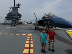 boys plane flight deck