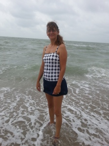mom at beach