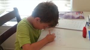 big first day school work