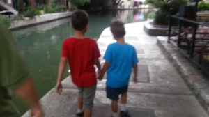 boys holding hands