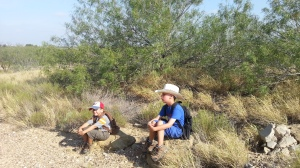 boys resting on rock 8.4.13