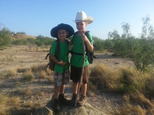 brothers ready to hike 7.7.13