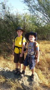 brothers ready to hike 8.25.13