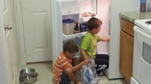 doing chore