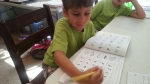 little first day school work