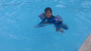 little in the pool