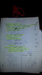 daily list highlighted