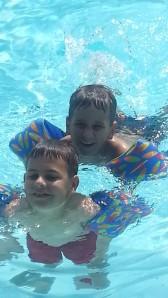 10 boys in pool