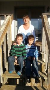 11.28.13 grandma and boys outside
