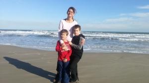 beach with mom