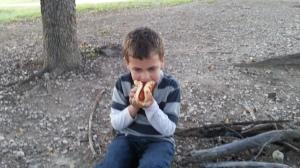 big first hot dog on bun