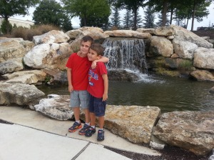 boys bass pro waterfall